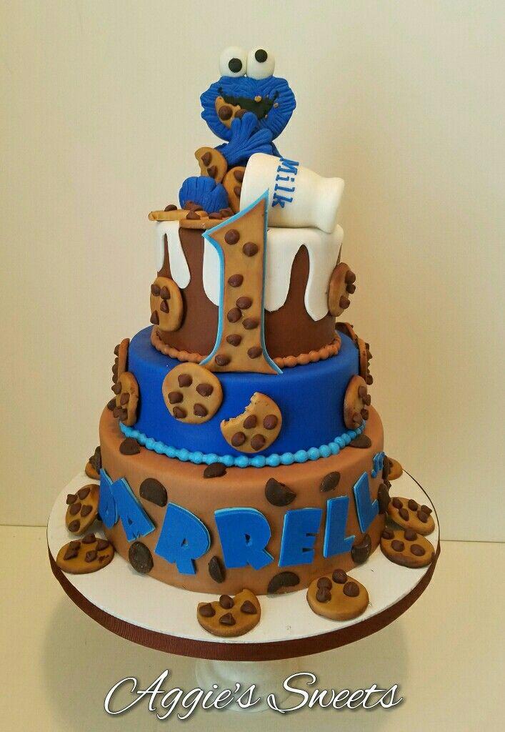 Cookie Monster Birthday Cake | Krümelmonster | Monster birthday ...