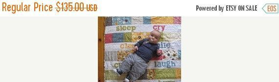 Eat Play Sleep Repeat Baby Words Crib Quilt Gender