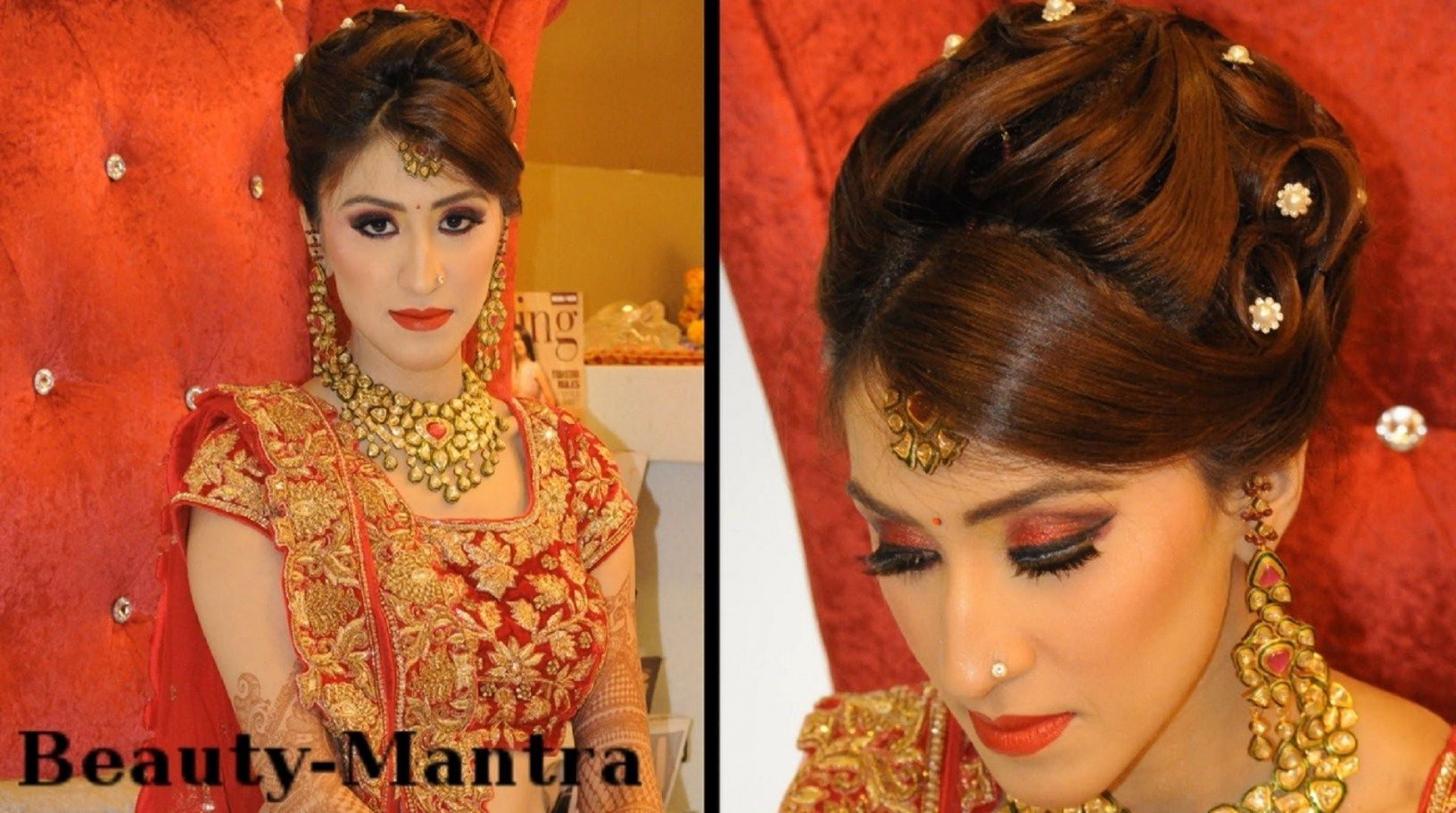 wedding reception hairstyles for indian bride | hairstyles ideas