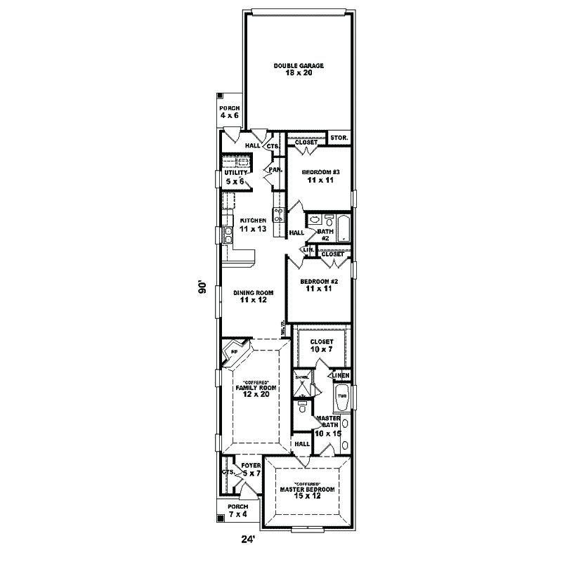 Various Long Narrow House Floor Plans Ranch Home Design And Decor Bathroom 1 Duplex Lots Narrow House Plans Narrow Lot House Plans Garage House Plans