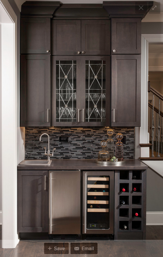 Upper upper cabinets and wine cubbies | New house! | Pinterest ...