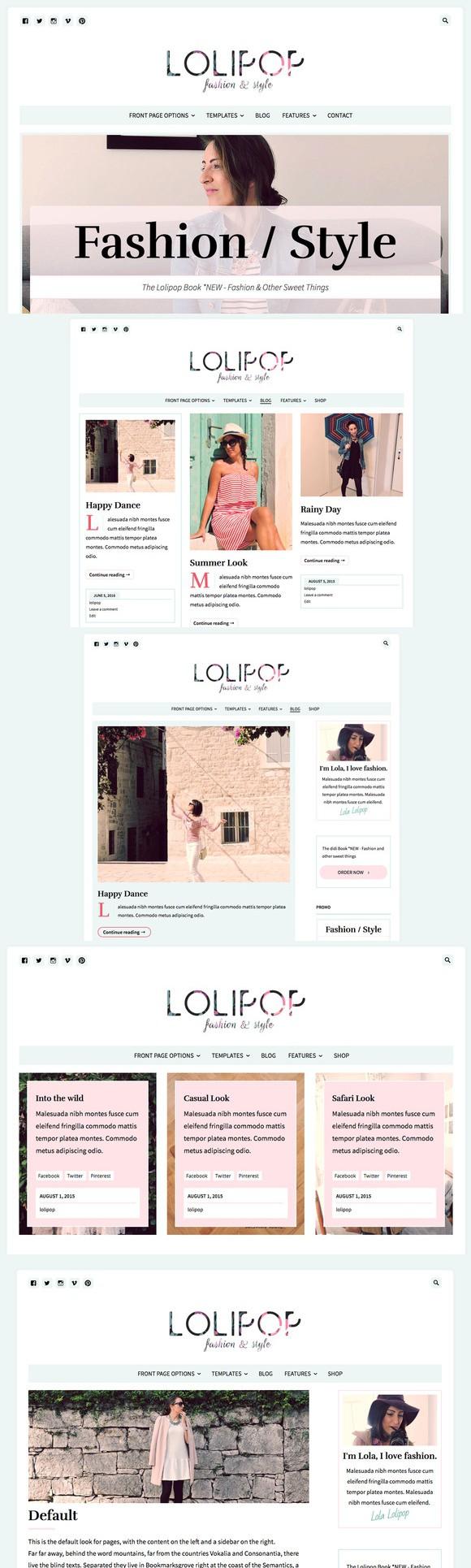Lolipop-Fashion Blog WordPress Theme. WordPress Blog Themes ...
