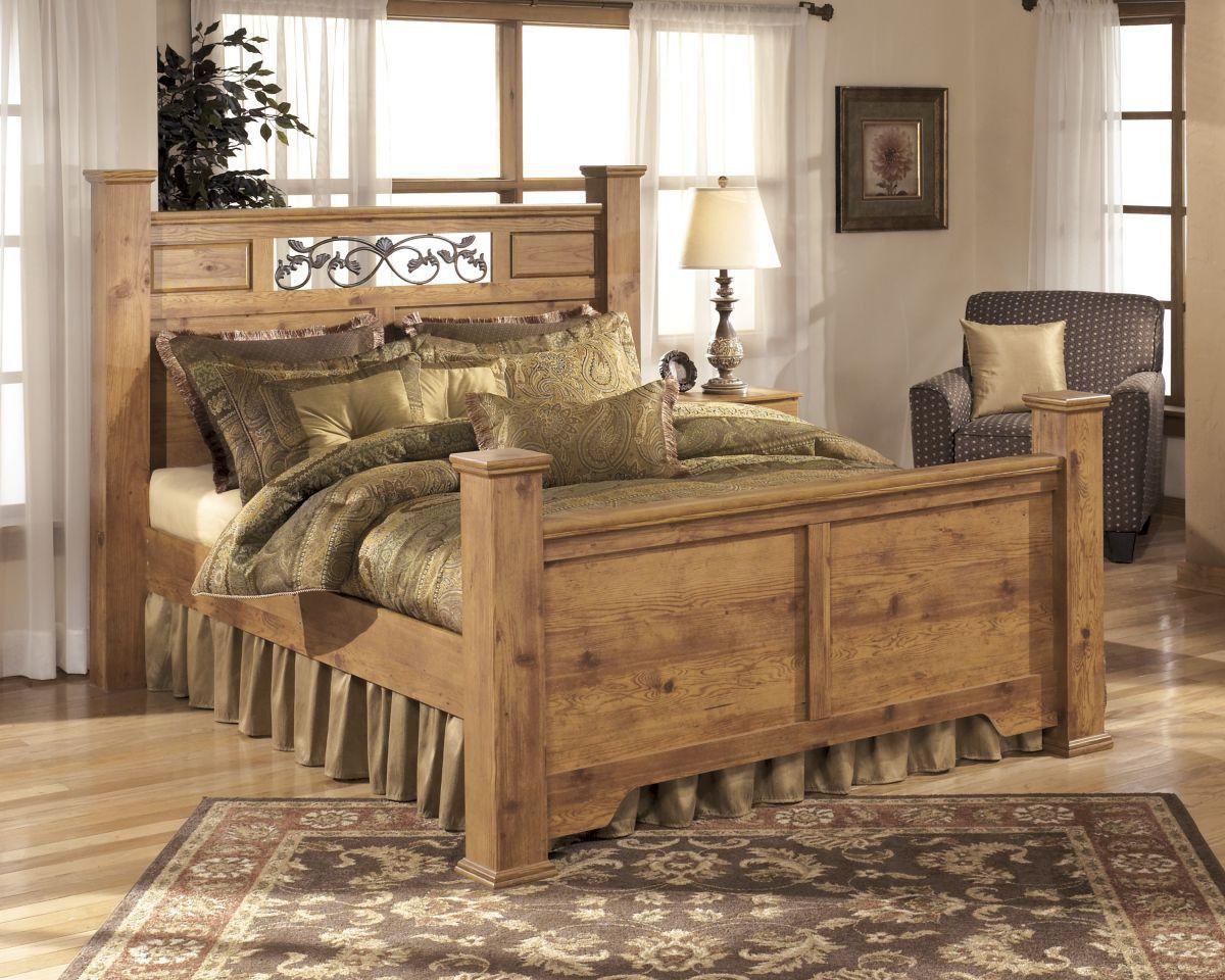 Bittersweet King Size Bed Pine Bedroom Furniture Rustic