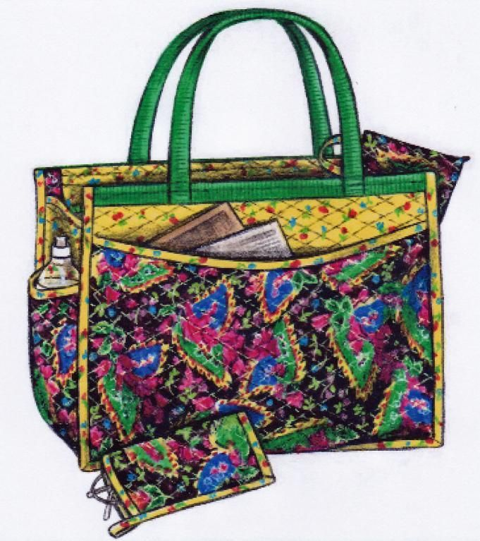 (7) Name: 'Quilting : The Quilted Carryall Tote Bag