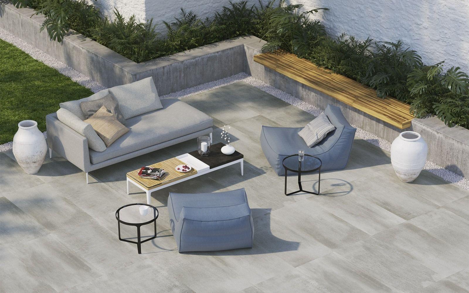 bildergebnis für terrasse betonplatten naturstein umrandung