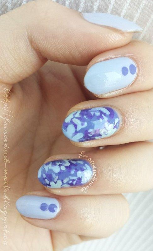 Mess-Free Splatter Nails nail art by Shirley X.   langa   Pinterest ...