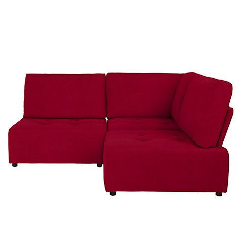 Buy House By John Lewis Flex Small Corner Sofa, Fraser Red Online At  Johnlewis.