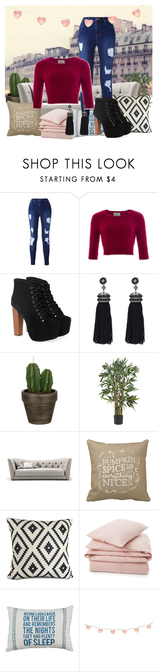 """>3>3>3"" by suada-kovacevic ❤ liked on Polyvore featuring Collectif, Jeffrey Campbell, Nush, John Lewis and Lexington"