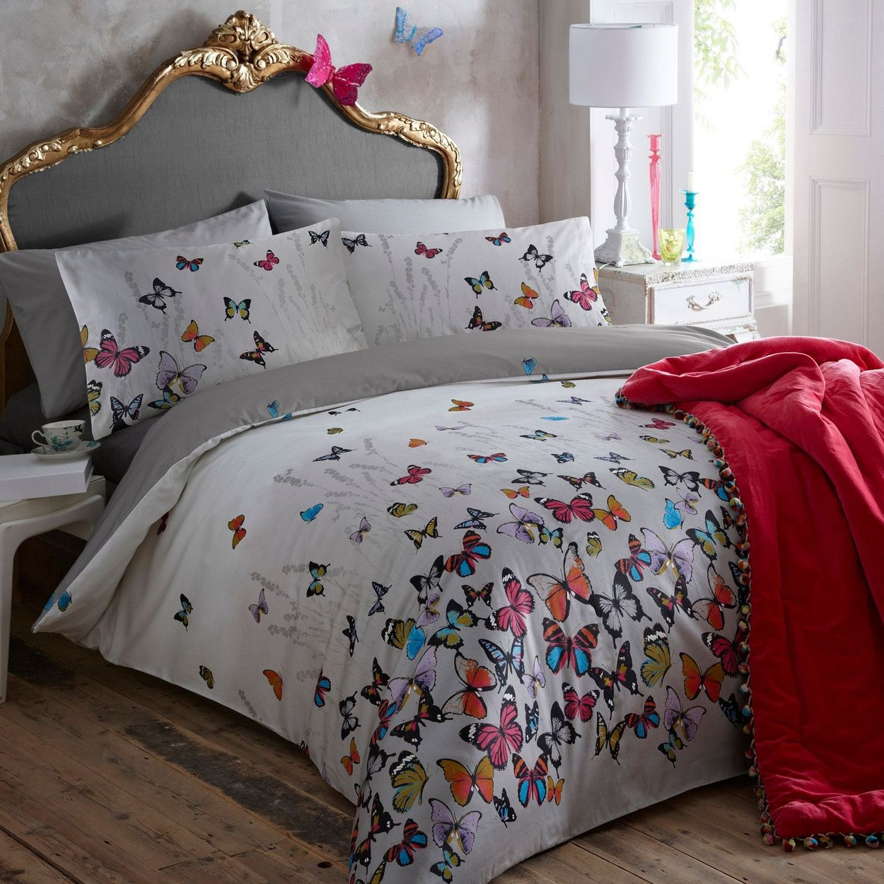 this light grey bedding set from butterfly by matthew