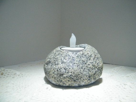 Tealite Rock Pot by RouxSpecialties on Etsy, $20.00