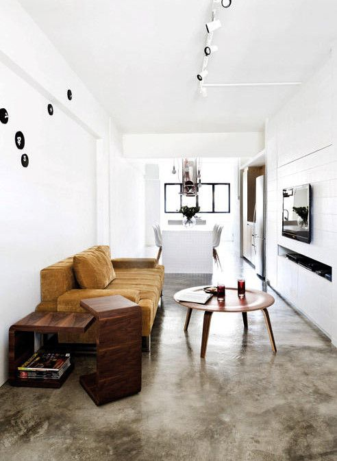 Wohnen Industrie Style estrich der fußoden im industrial style für moderne raumgestaltung