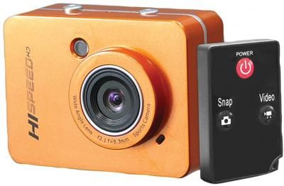 12 0 Megapixel 1080p Action Camera With 2 4 Touchscreen Orange Action Camera Pixel Camera Camera