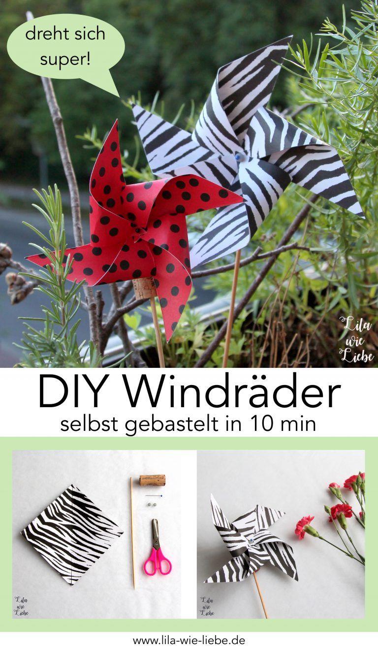 Windrad basteln - 10 Minuten DIY - Lila wie Liebe