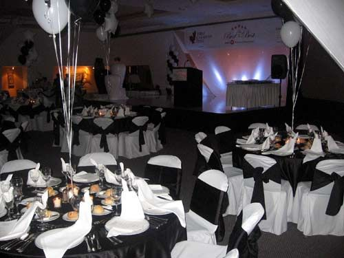 Black White And Silver 50th Birthday Party Decorations