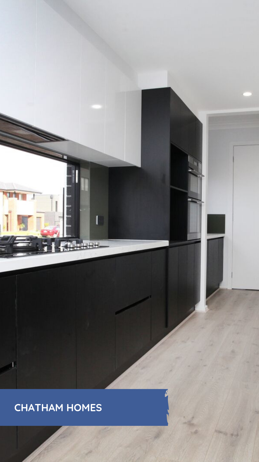 Beautiful monochrome kitchen custom designed by chatham homes experienced custom builder from melbourne australia more designs plans prices for new