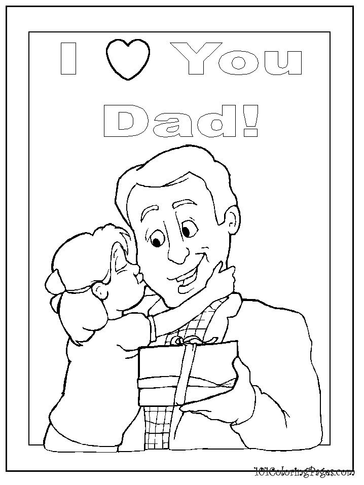 I Love Dad Coloring Pages love you dad coloring pages 1 I Love