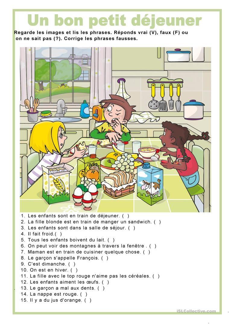 Śniadanie - ćwiczenie 5 - Francuski przy kawie