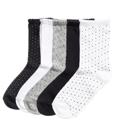 H&M 5 paar sokken 7,99