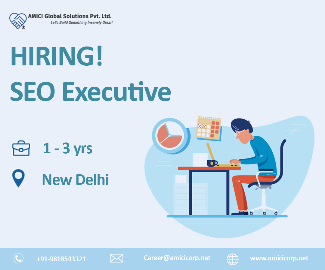 Urgent Opening For The Post Of Seo Executive Job Opening Learning And Development Job Career