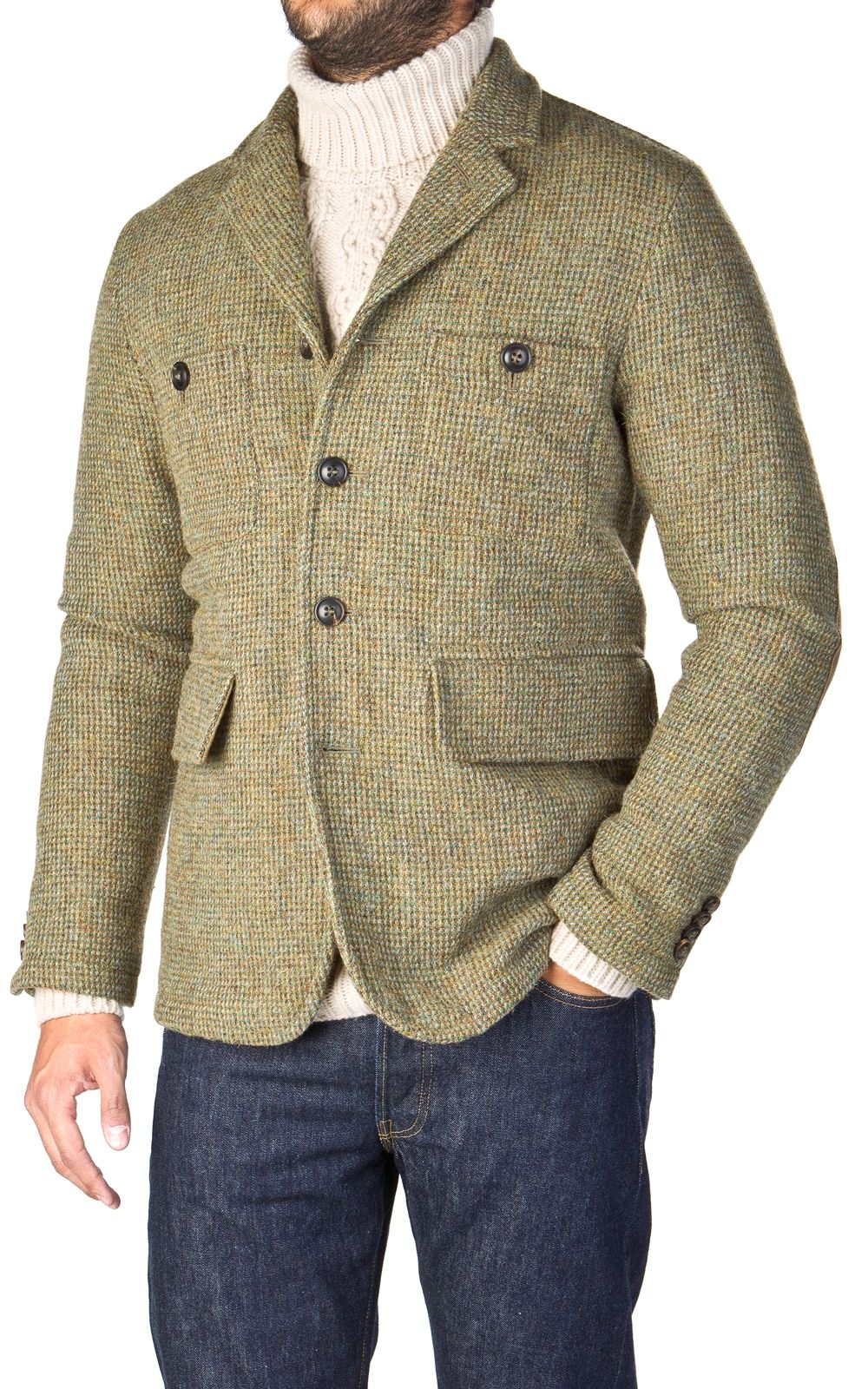 Nigel Cabourn Atkinson Jacket Harris Tweed Moss  06de4f41b0f
