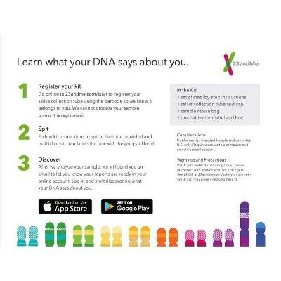 23andMe Personal Ancestry & Health Kit - Lab Fee Included in