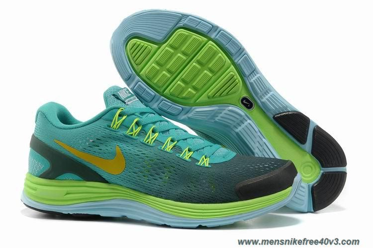 Sale Cheap Grey Green Blue Glow Yellow Mens Nike LunarGlide 4 Your Best  Choice