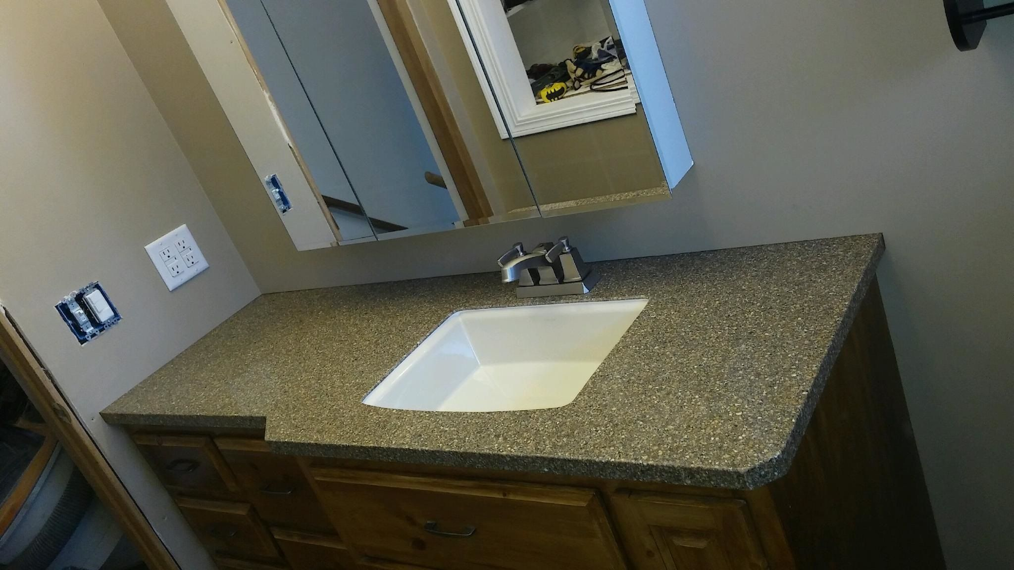 Yes Granite Transformations Can Help Upgrade Your Bathroom Vanity For Those Holiday House Guests W Engineered Stone Countertops Engineered Stone Countertops