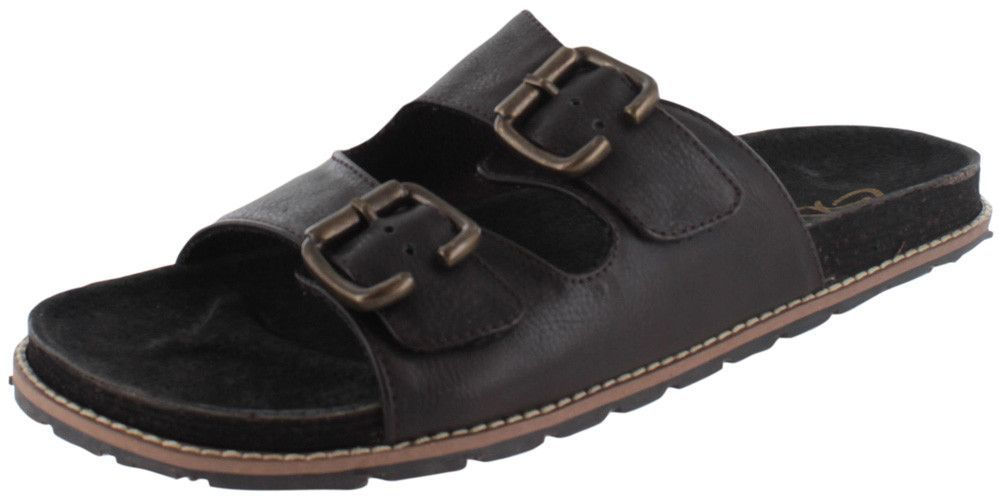 GBX Standurd Men's Adjustable Double Buckles Sandals Leather