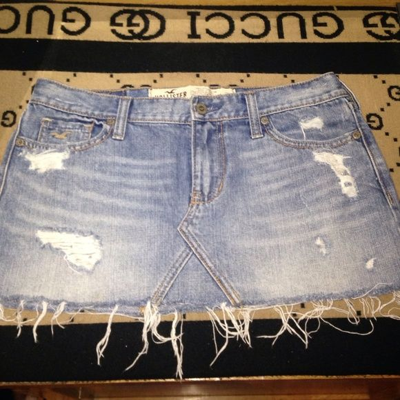 Ripped Hollister Jean Mini Skirt Short ripped skirt Hollister Skirts Mini