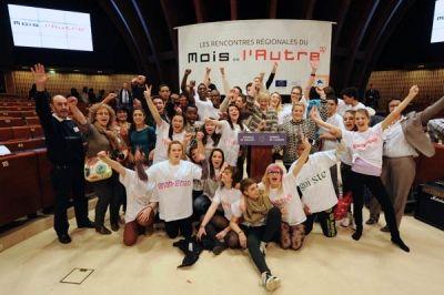 Clôture du Mois de l'Autre avec 450 jeunes réunis au Conseil de l'Europe © Stadler / Région Alsace