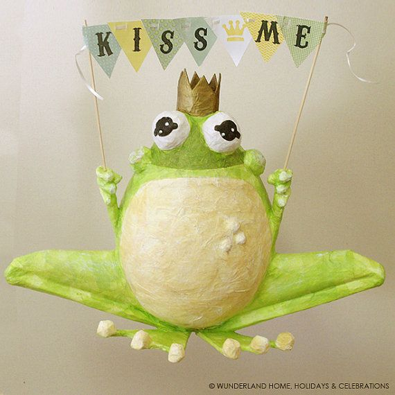 Frog Prince Pinata by wunderlandhome on Etsy, $75.00