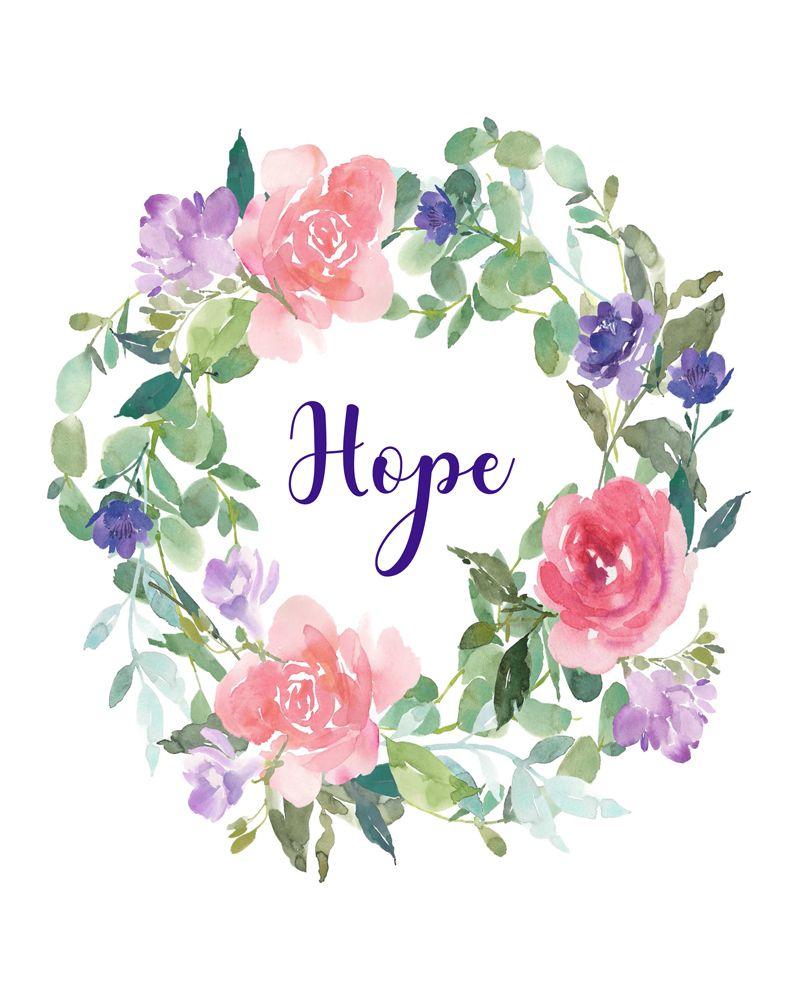 Hope Word Art, Instant Download Printable Art, Hope Art