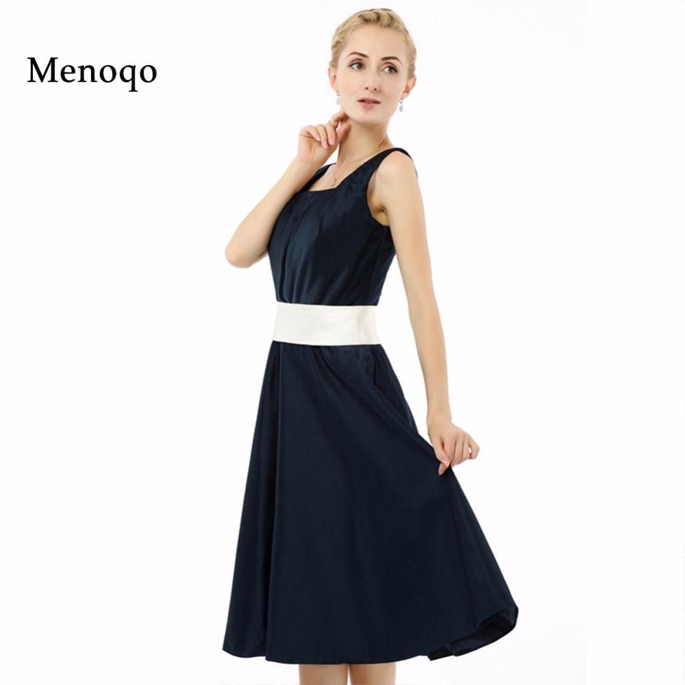A line Square neck Knee length Short Party dresses 2017 High Quality ...