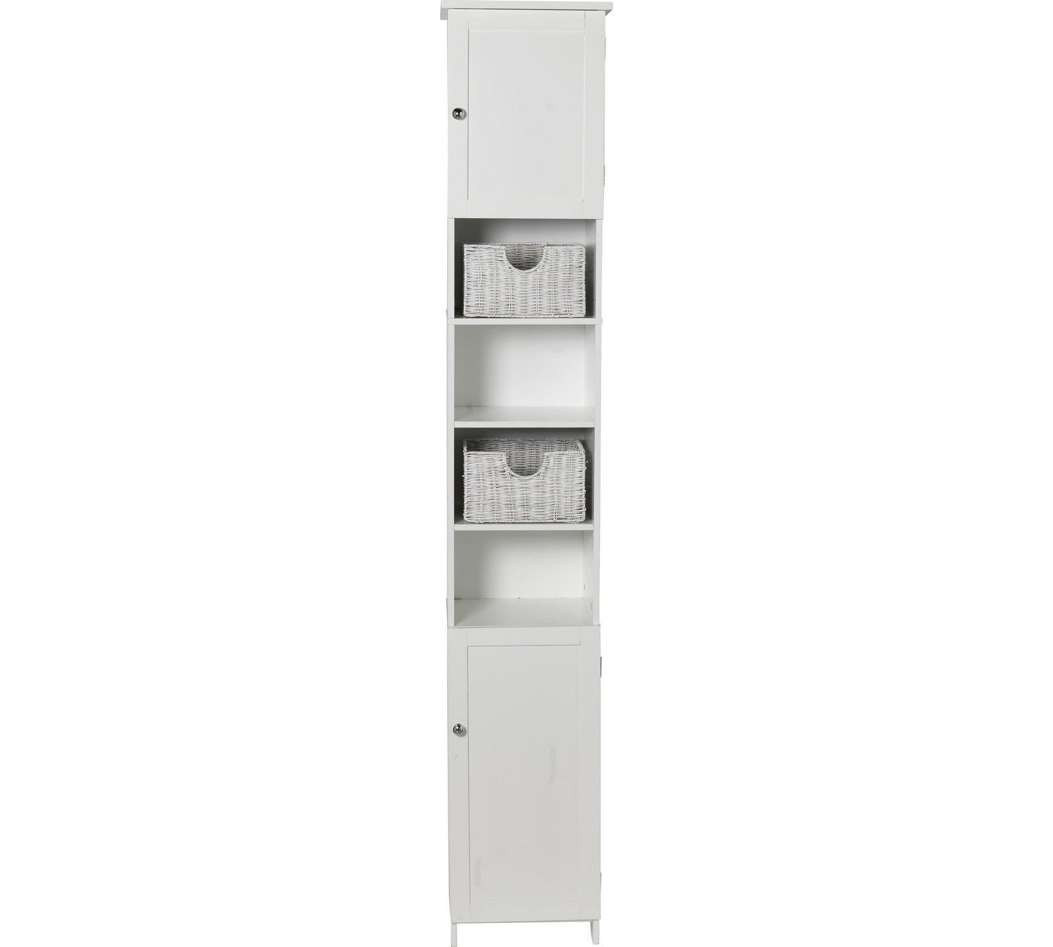 Buy home manhattan tall bathroom cabinet white at argos