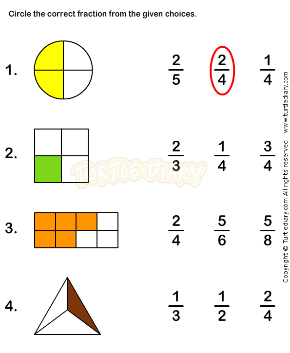Fractions Worksheet 2 math Worksheets grade1