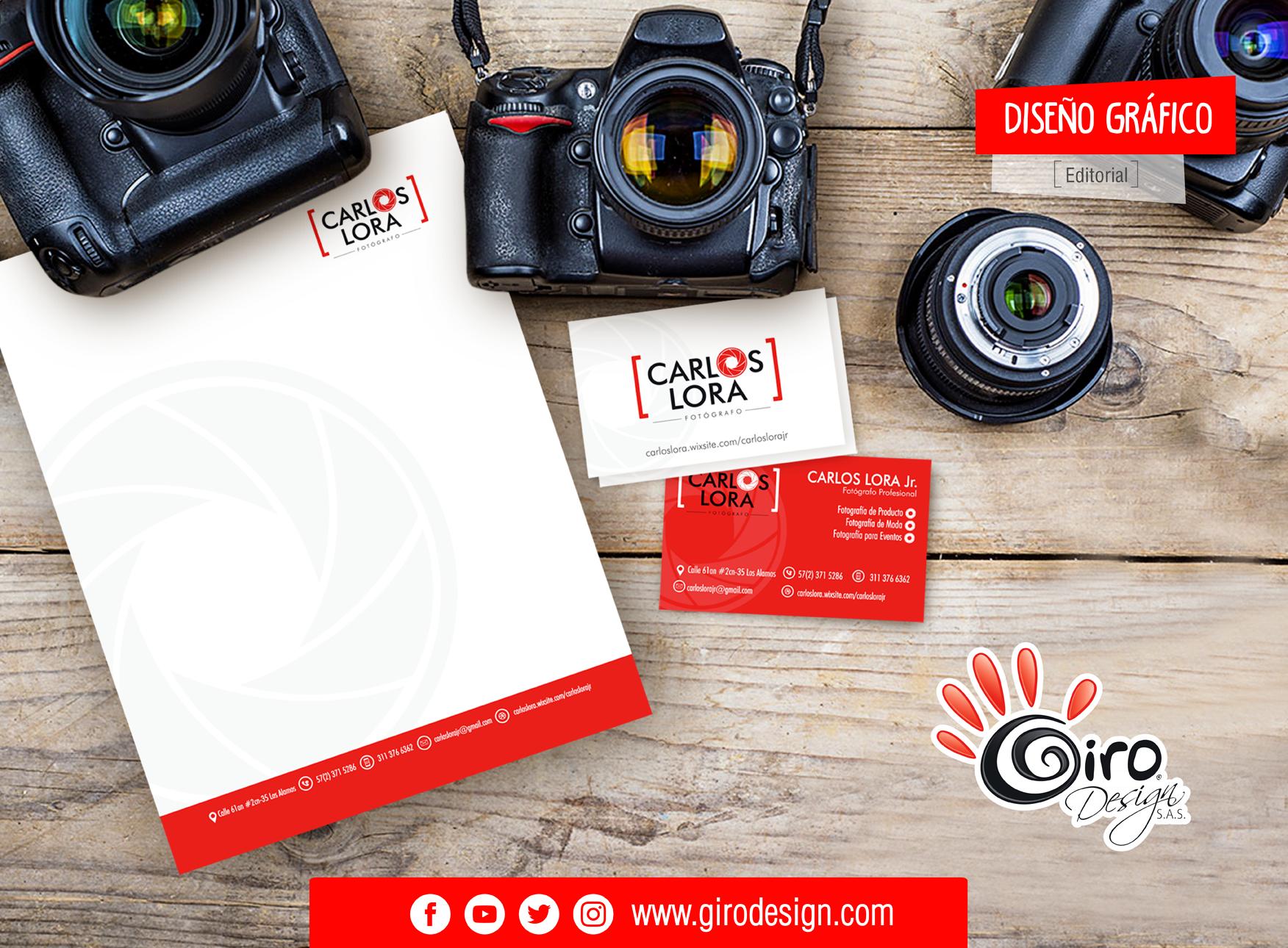 Diseño Editorial para Carlos Lora - Fotógrafo -
