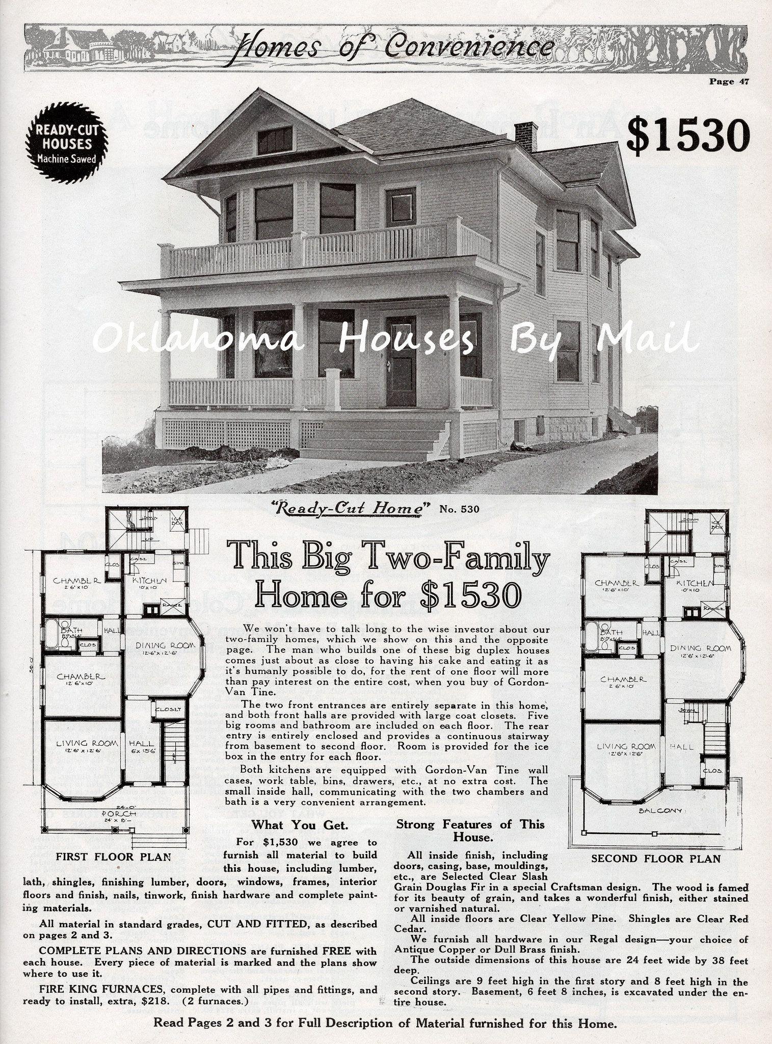 Gvt 1916 Pg47 In 2020 Architectural Floor Plans Vintage House