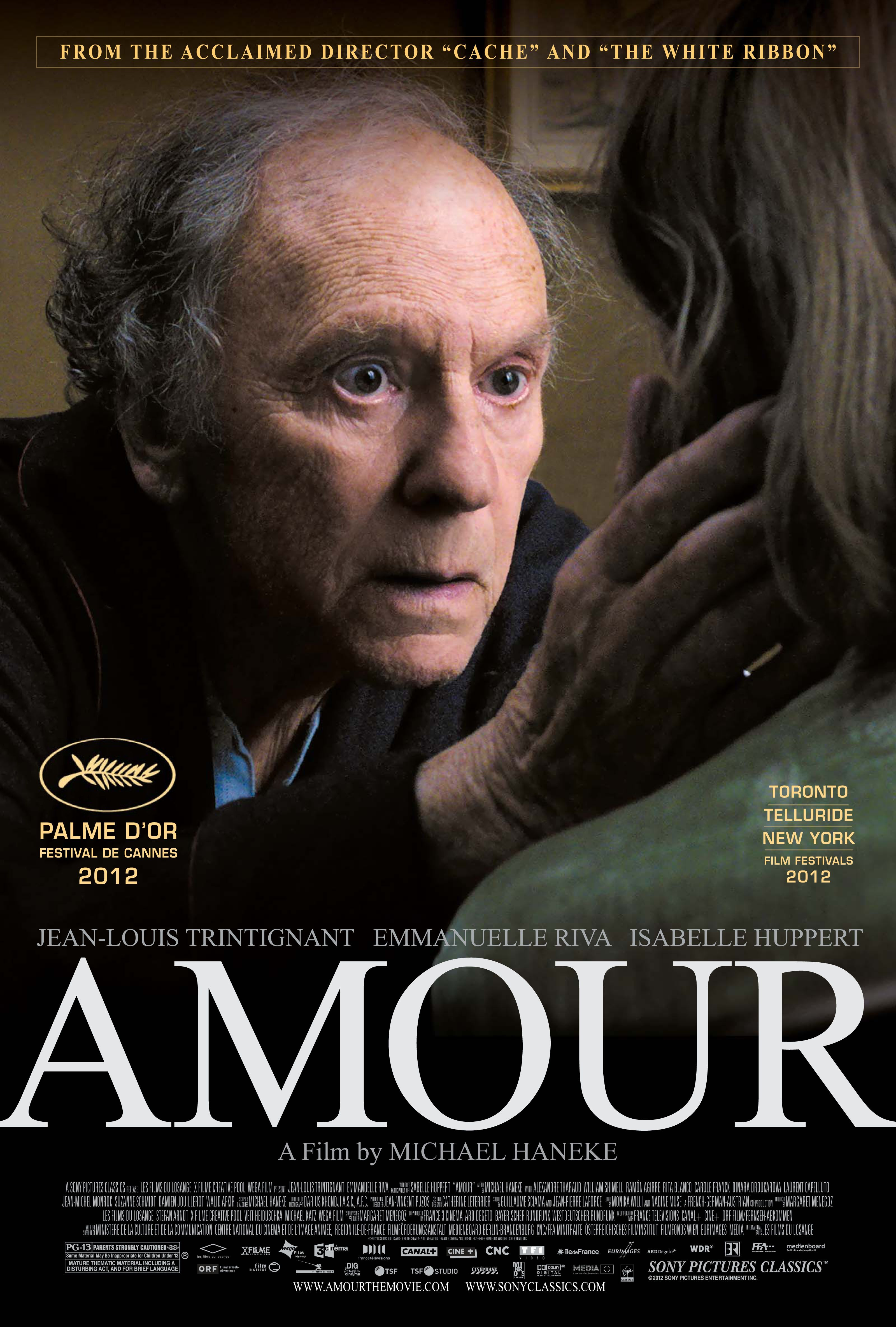 Amour Directed By Michael Haneke French Movies Oscar Nominated Movies Movie Posters