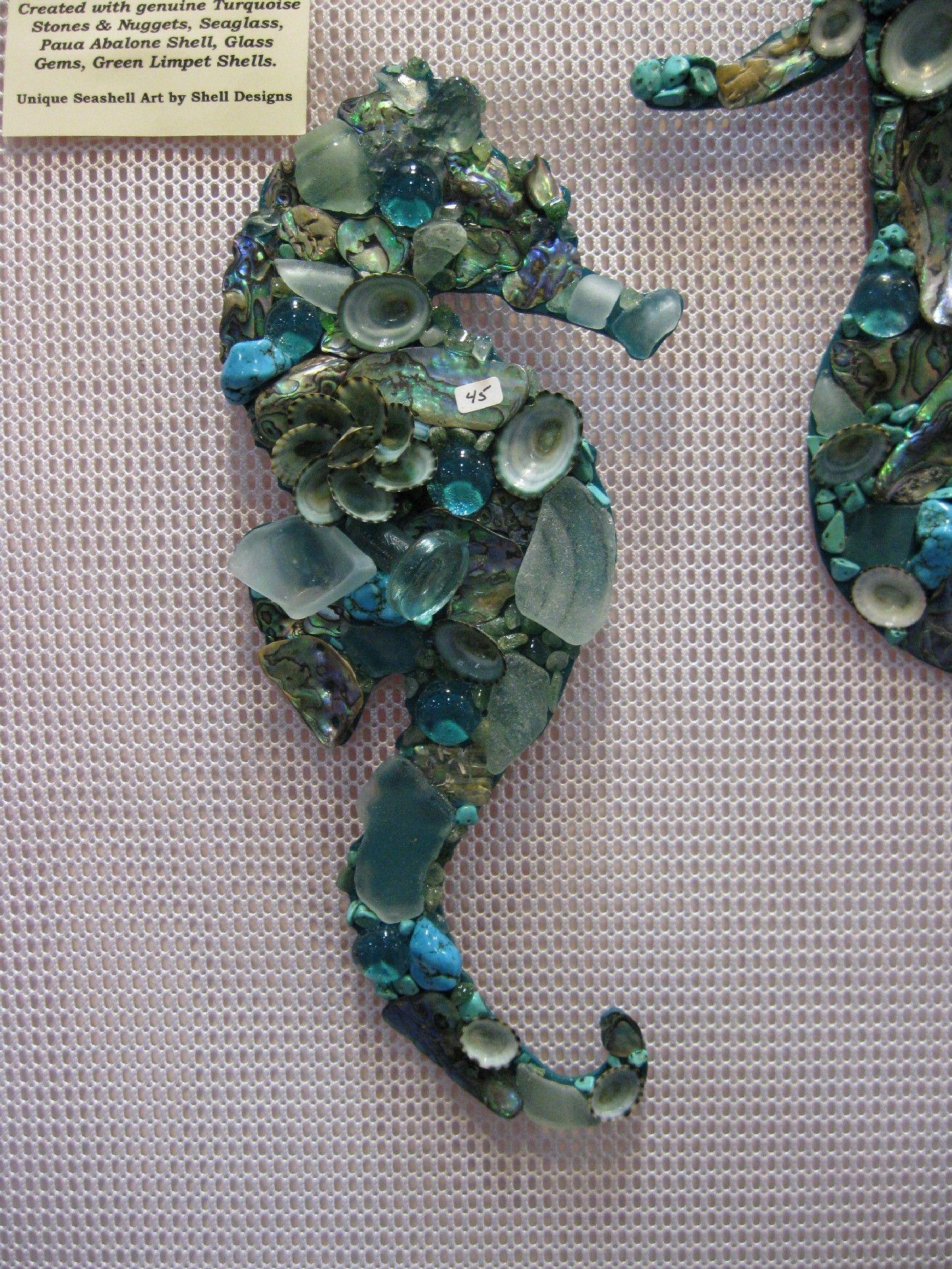 Mosaic Seahorses And Mermaids Shell Designs Shell