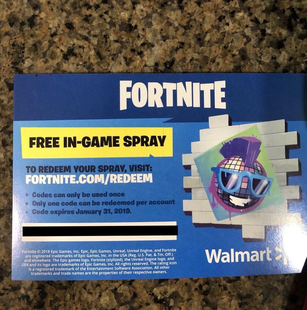 Fortnite Epic Walmart In Game Spray Early Code Fortnite