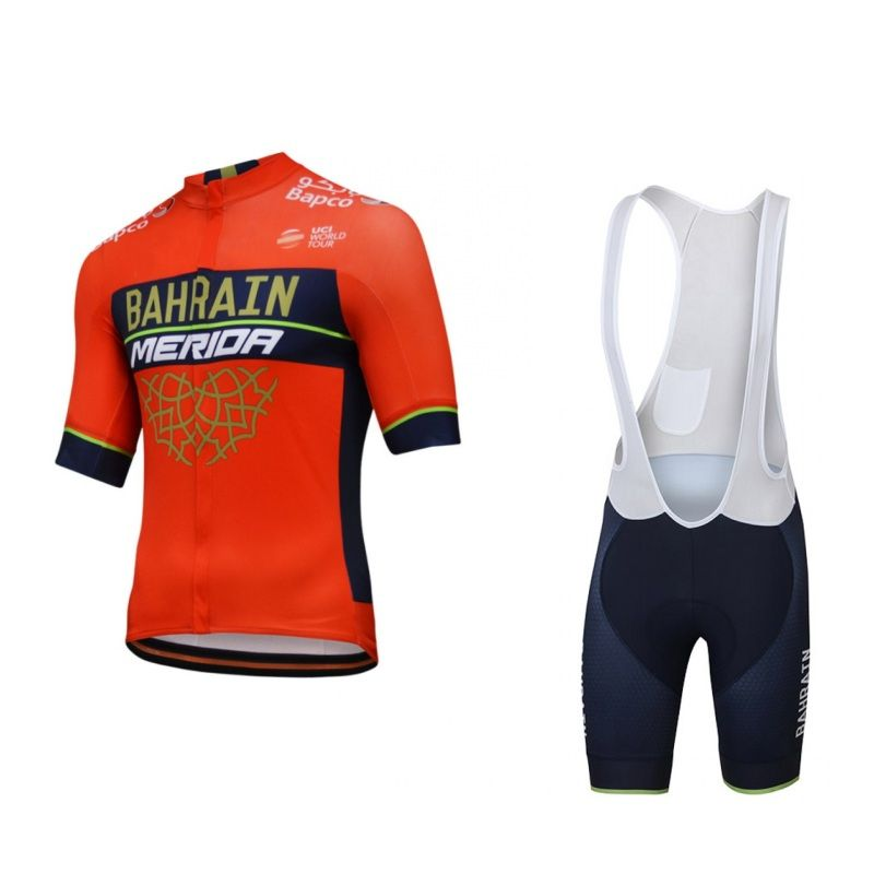 2018 pro tour team bahrain merida quick dry cycling jersey kits mens summer  bike cloth MTB Ropa Ciclismo Bicycle maillot gel pad f333e8ce0