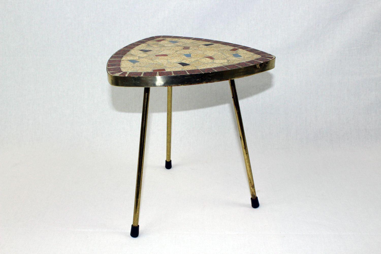 Salon Tafel 50s.Tafel Fifties Driehoek Klein Mozaiek Zeldzaam Furniture