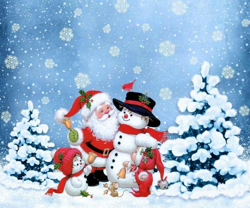Байрам поздравительные, новогодние картинки елка со снеговиком