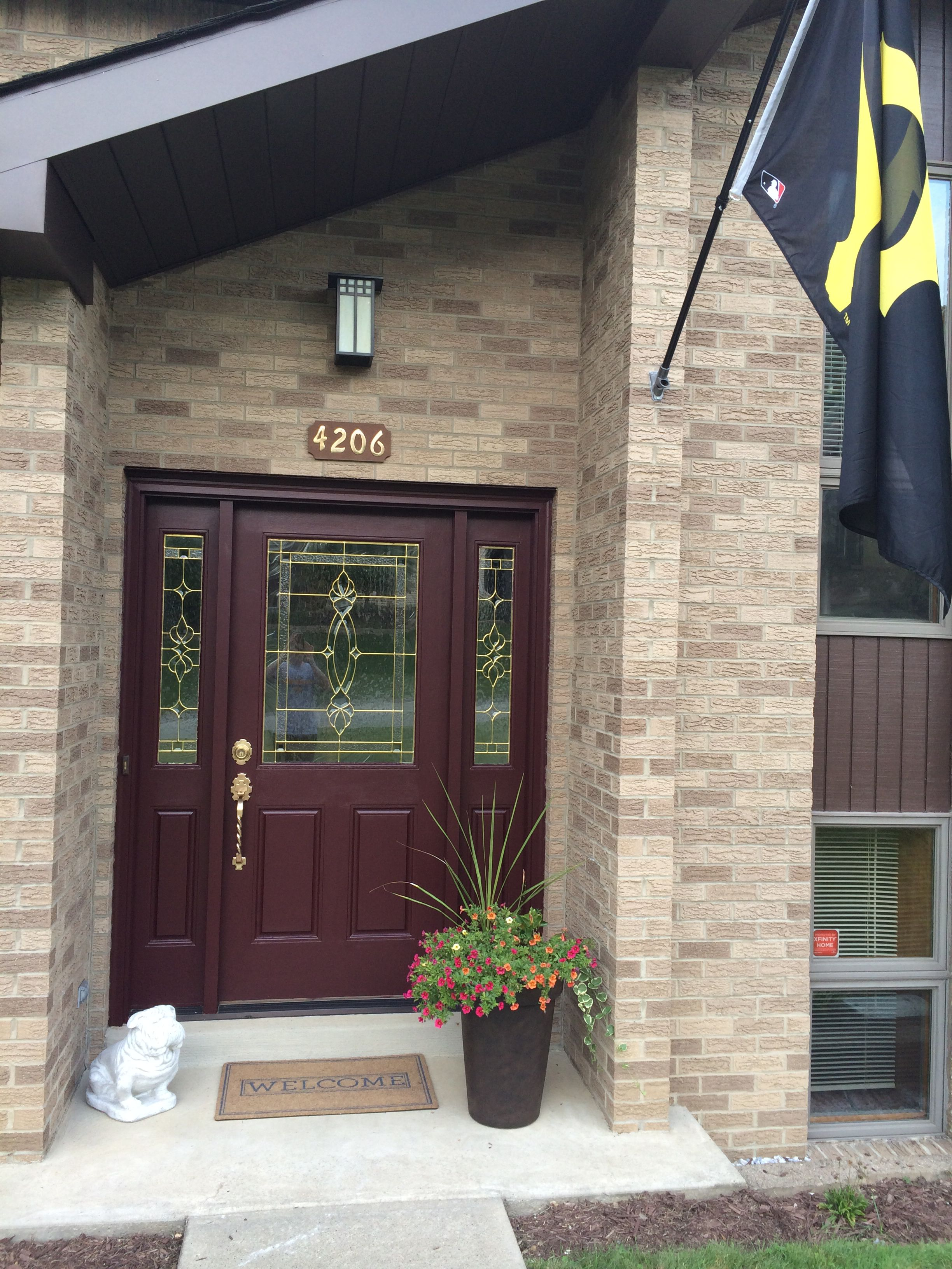 Front door sherwin williams rookwood dark red exterior - Front door colors for brick houses ...