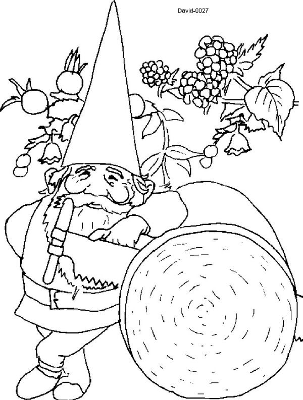 Coloring Page David The Gnome David The Gnome David The Gnome Coloring Pages Coloring Books
