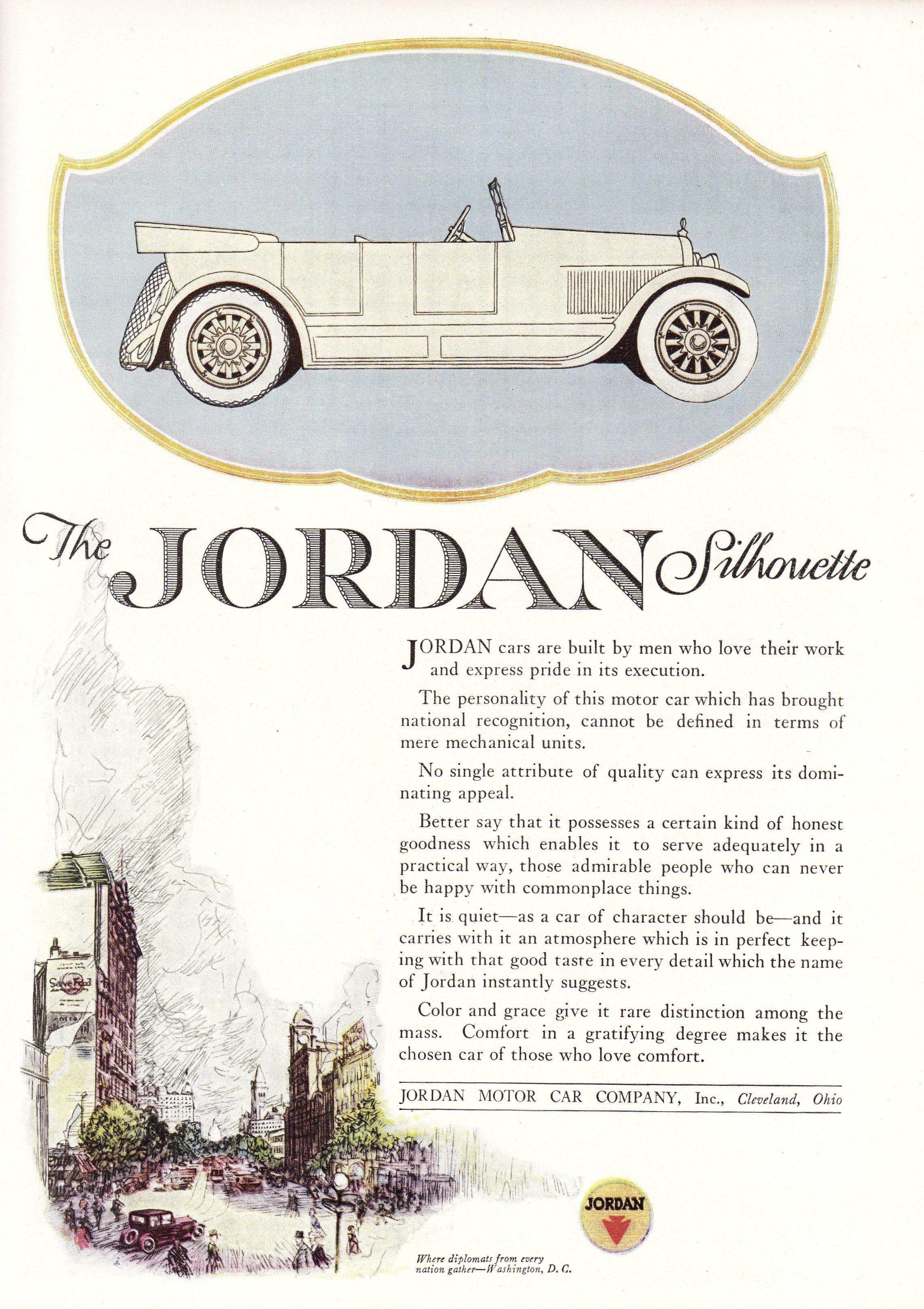 1920 Jordan Silhouette. Jordan Motor Car Company.   Autos - 1920\'s ...