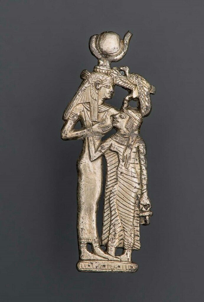 Silver Amulet Of Hathor Nursing A Queen Nubian Napatan Period