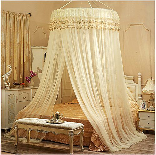 yanglovele round home mosquito net large size decoration lace bed canopy netting princess large size for