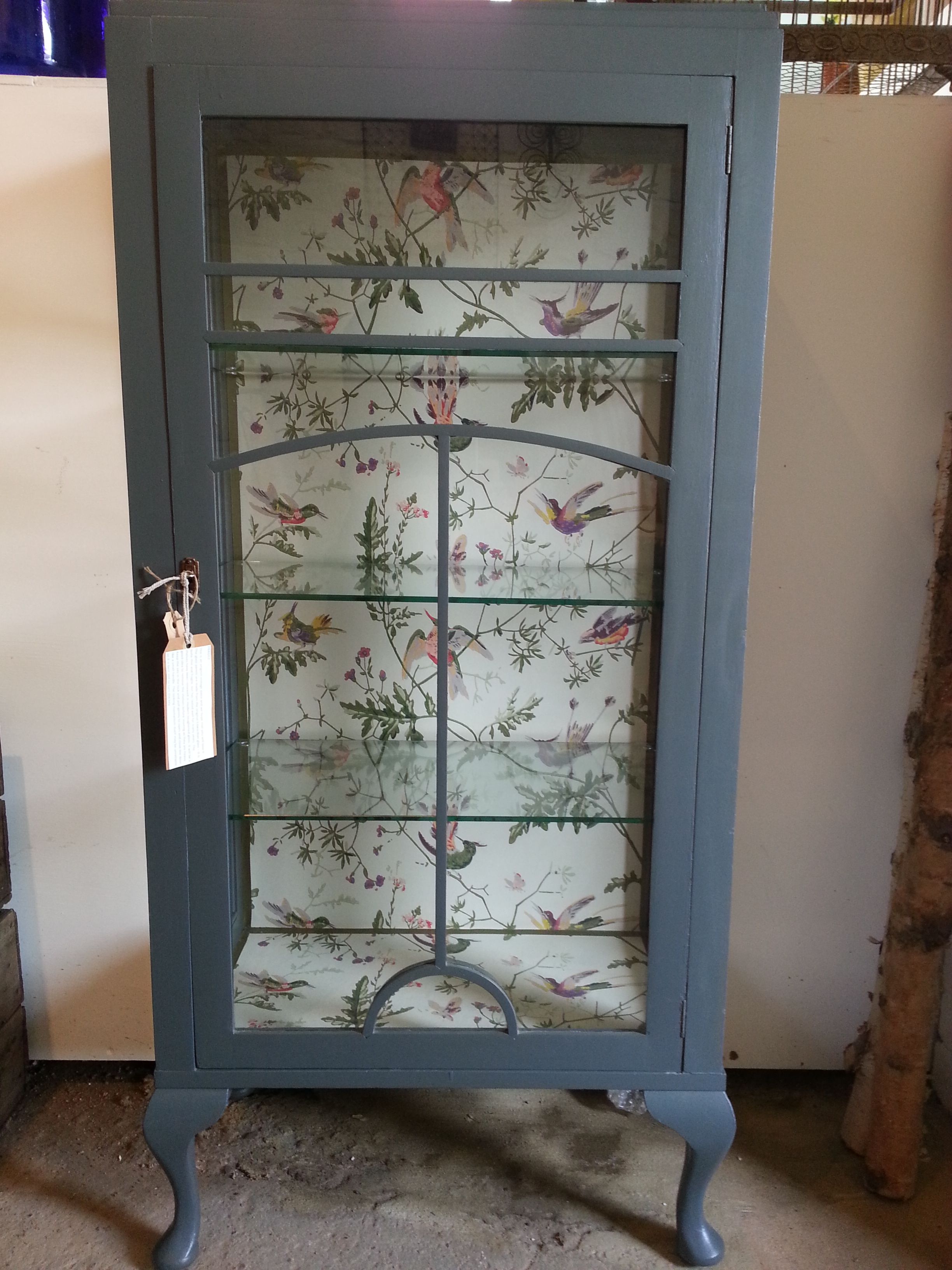 Beautiful upcycled Edwardian glass lined with