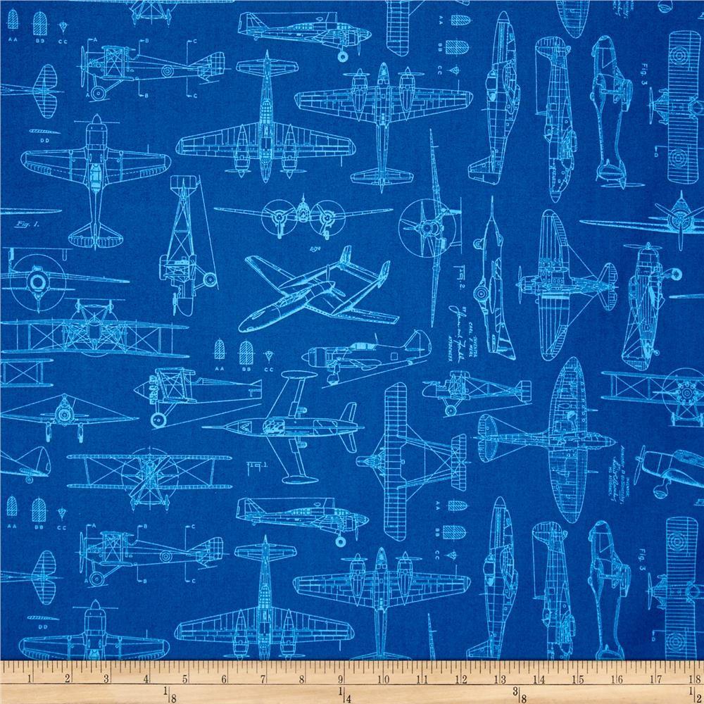Aviator plane blueprints royal from fabricdotcom designed by dan a45c6b33808dbf3430d8fd9df5ede18ag malvernweather Choice Image